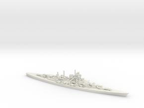 German Battleship Tirpitz in White Natural Versatile Plastic