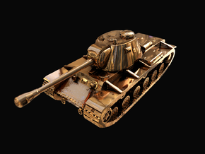 Tank - KV-3 - size Large in 14k Gold Plated Brass