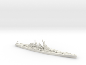 US North Carolina-Class Battleship in White Natural Versatile Plastic