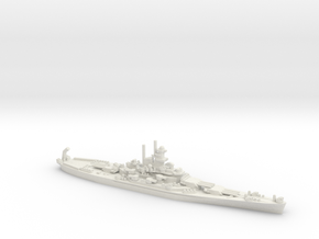 USS South Dakota (BB-57) in White Natural Versatile Plastic