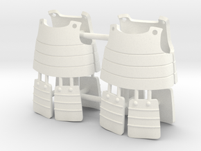 ASHIGARU ARMOUR x2 in White Processed Versatile Plastic