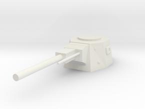 Turret Weapon in White Natural Versatile Plastic