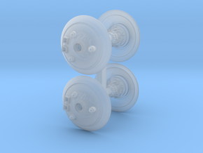 Shield Drone Bit 4pc in Smooth Fine Detail Plastic