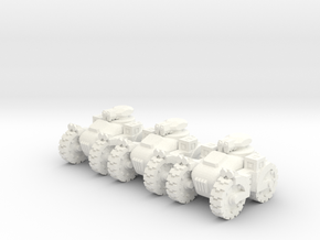 6mm - All terrain Anti Infantry Machine Gun Tank in White Processed Versatile Plastic