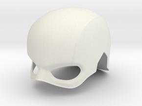 Captain America TFA Helmet in White Natural Versatile Plastic