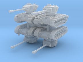 M26 Pershing (x4) 1/220 in Smooth Fine Detail Plastic