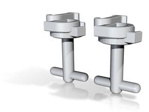 Custom cufflink nr.19 in Metallic Plastic
