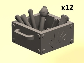 28mm stick bomb boxes in Smoothest Fine Detail Plastic
