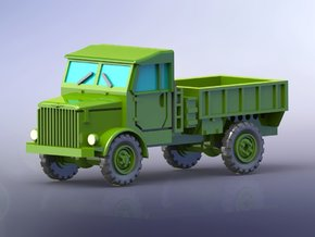 Borgward B2000 Flatbed Truck open 1/144 in Smooth Fine Detail Plastic