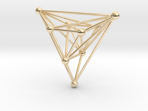 triangular atom array in 14k Gold Plated Brass