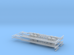 N 48' Container Chassis 4 Pack v1 in Smooth Fine Detail Plastic