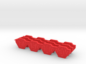 Damage Counters- Transformers Dinobots in Red Processed Versatile Plastic