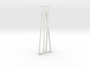 Faux square earrings in White Natural Versatile Plastic