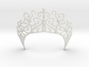 Romantic Crown in White Natural Versatile Plastic