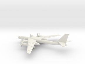 Tupolev Tu-95MS Bear-H in White Natural Versatile Plastic: 1:350