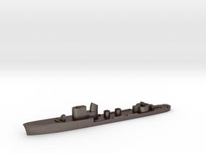 Italian Andromeda torpedo boat 1:3000 WW2 in Polished Bronzed-Silver Steel