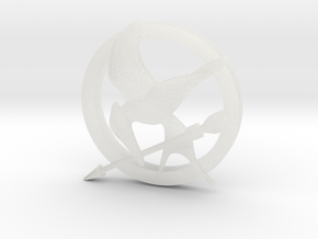 Mocking Jay Pendant in Smooth Fine Detail Plastic