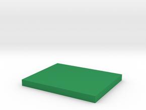 1:152 Vehicle/figure rectangular base in Green Processed Versatile Plastic