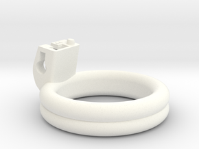 Cherry Keeper Ring - 44mm Double Flat in White Processed Versatile Plastic