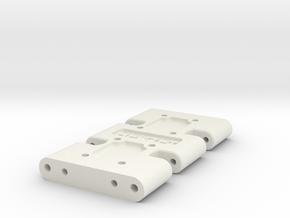 1Tenth Gen 7 Skid with Mirror Option in White Natural Versatile Plastic