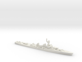 French La Galissonniere-Class Cruiser in White Natural Versatile Plastic: 1:1800