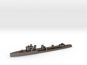 Italian Euro destroyer WW2 1:1800 in Polished Bronzed-Silver Steel