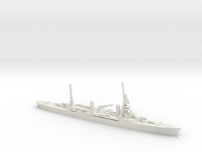 French Suffren-Class Cruiser in White Natural Versatile Plastic