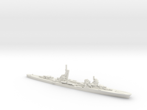 Italian Duca d'Aosta-Class Cruiser in White Natural Versatile Plastic