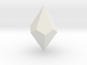 Pentagonal Trapezohedron in White Natural Versatile Plastic