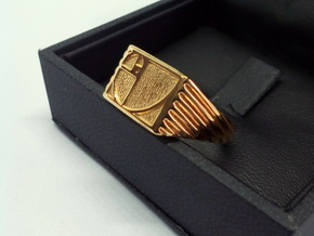 Golden Ratio Ring in 18k Gold Plated Brass: 5 / 49