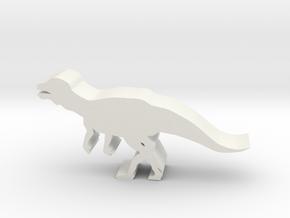 Dinosaur Island Meeple - Albertadromeus in White Natural Versatile Plastic