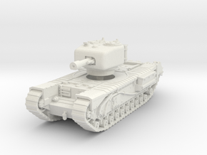Churchill IV 95mm gun 1/76 in White Natural Versatile Plastic