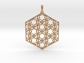 Starry Hexapendant in Natural Bronze