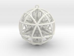 "Star Tetrasphere with Nested Octuple Dorje 2""  in White Natural Versatile Plastic"