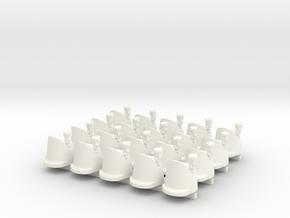 20 x British Wellington in White Processed Versatile Plastic