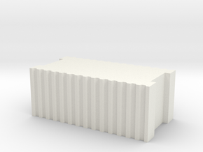 Ziegelstein / Brick 1:50 in White Natural Versatile Plastic