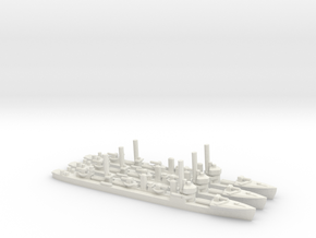 Japanese Minekaze-Class Destroyer (x3) in White Natural Versatile Plastic