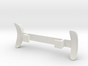 Standard Wheelbase Rear Trailing Fenders in White Natural Versatile Plastic