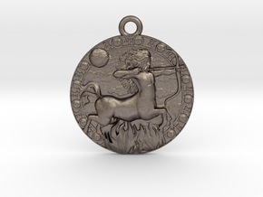 Sagittarius-Medaillon in Polished Bronzed-Silver Steel