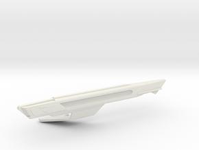 1/1400 USS Shangri-La Left Nacelle in White Natural Versatile Plastic