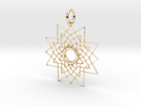 Superstar Pendant - Keychain in 14k Gold Plated Brass