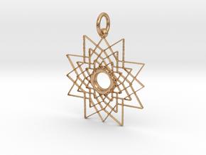 Superstar Pendant - Keychain in Natural Bronze