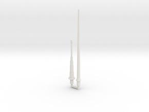 Mauler Antenna Set (Long and Short) in White Natural Versatile Plastic