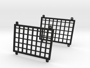 Cross Rc SU4C Rear side window guards in Black Natural Versatile Plastic