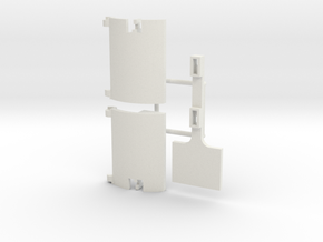 Skystriker Landing Gear Covers in White Natural Versatile Plastic