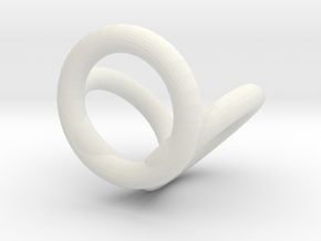 Scarf buckle triple ring with diameter 20mm  in White Natural Versatile Plastic