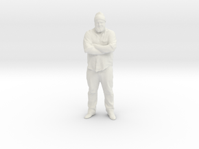Walt 3D in White Natural Versatile Plastic