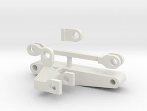 Cliff Hanger Boom Assembly in White Natural Versatile Plastic