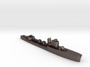Italian Ariel torpedo boat 1:2400 WW2 in Polished Bronzed-Silver Steel