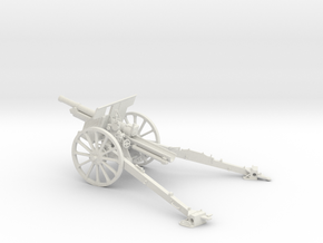 1/32 IJA Type 91 105mm Howitzer (Horse Drawn) in White Natural Versatile Plastic